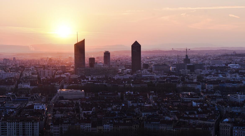 paysage de Lyon depuis Fourvière
